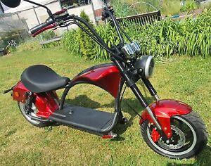 Elektro Scooter bis zu 48 km/h  2000W | 20AH Akku Elektro Roller Ebike Coco Red