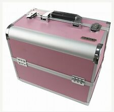 Large Professional PINK Aluminium  Make Up  Cosmetic Box Vanity Case - BC01 PINK