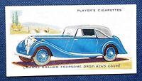 LAMMAS GRAHAM COUPE   Original 1930's Vintage Unmounted Colour Card