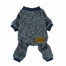 Fitwarm Knitted Thermal Pet Clothes for Dog Pajamas PJS Coat Jumpsuit Large