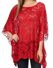 New Hot Sexy Comfy Plus Lace Tunic Kimono 1X Tag $126 Bohemian Made in US