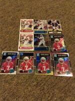 10 Card Lot Jacoby Brissett Optic, Rated Rookie, Pink,Black,  Patriots, Colts