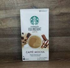 STARBUCKS Via Instant Latte CAFFE MOCHA Coffee Beverage 5 packets FREE SHIPPING