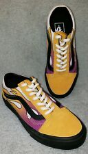 Vans Off The Wall Men/Boys 3.5 Women's 5, 34.5Eu Multicolored Flames Sneakers