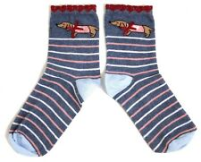 Ladies Pretty Basset with pink jumper and Bow Socks UK 4-8 EUR 37-42 USA 6-10