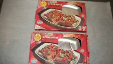Nordic Ware Sizzler Server Plates Lot of 2 Hot / Cold Food Plate Made in USA Box