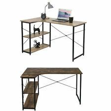 Schreibtisch Eckschreibtisch Computertisch mit Regal Arbeitstisch Bürotisch MDF