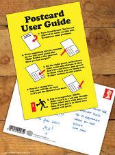 Brainbox Candy Postcard 'User Guide' Funny Comedy Humour Novelty Cheeky Joke