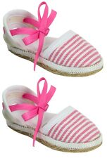 "Pink Espadrilles Sandals Shoes for Bitty Baby or 18"" American Girl Doll Clothes"