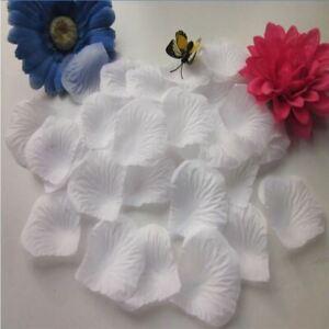 1000 Light White Quality Silk Rose Petals Confetti birthday Wedding Decorations