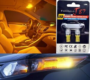 LED 5050 Light Orange Amber 194 Two Bulb Front Side Marker Parking Replace OE