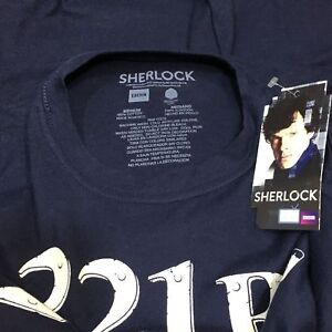 Women's T-shirt -SHERLOCK HOLMES-221B-Watson Private Detective-100%Cotton-NWT-M-