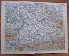 Bayern Südlicher Teil Deutschland - alte Landkarte Karte old map 1928