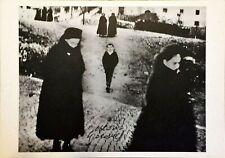 Mario Giacomelli - cartolina firmata - Titolo: Scanno 1957