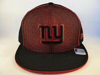 NFL New York Giants Reebok Size 7 3/8 Fitted Hat Cap Black Red Spyro