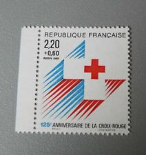 France 1988 2555 neuf luxe ** 2555a croix rouge provenant de carnet