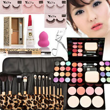 Cosmetic Makeup Kit Set Eyeshadow Foundation Blusher Powder Lip Gloss Brushes US