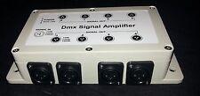 8 Way Splitter DMX AMPLIFICATORE + ALIMENTATORE UK STOCK