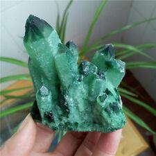 300g Pretty Green Quartz Crystal Cluster Specimen Good Luck Stone #LJZ134