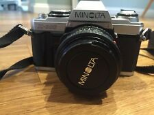 Minolta X-500 film camera and Minolta MD 50 mm 1:17 lens