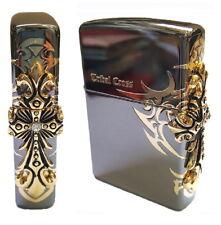 Zippo Lighter Side Tribal Cross Genuine Authentic Original Packing