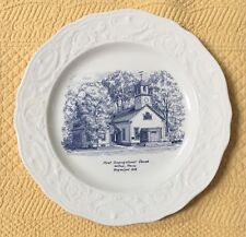 Adam Antique by Steubenville - First Congregational Church Wilton Maine 10 inch