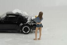 Sexy Film Photo Girl Model Jessica Car wash Figur Figurines 1:18 America Diorama
