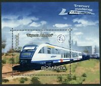 Trains Blue Arrow HSR mnh souvenir sheet 2004 Romania #4627
