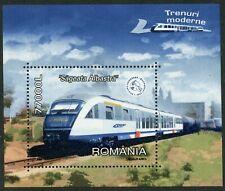 Trains Blue Arrow HSR mnh souvenir sheet 2004 Romania #4627