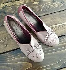 Ladies Seychelles Oxford Heels Pale Pink Block Heel Sz 7