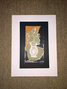 GEORGES BRAQUE ORIGINAL PRINT MOUNTED LITHOGRAPH 'LEAVES, COLOUR LIGHT ' 1953