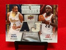 LeBron James & Gilbert Arenas Dual GU Relics~ *Free Delivery On Cards Under $25*