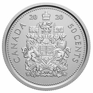 2020 Canada 50 Cent Coat Of Arms Coin BU  FREE Ship