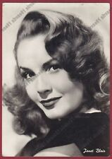 JANET BLAIR 01 ATTRICE ACTRESS ACTRICE CINEMA MOVIE PEOPLE USA Cartolina FOTOGR.
