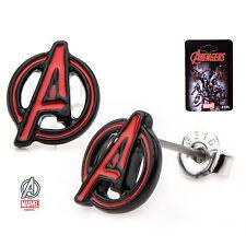 Marvel Avengers 3D A Logo Enamel Stud Earrings Officially Licensed Merchandise