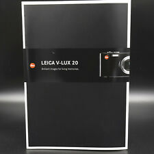 Genuine Leica V-LUX 20 Brilliant Brochure      C49826