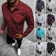Freizeithemd Langarmhemd Hemd Shirt Casual Classic Herren OZONEE O/3010