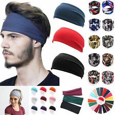 Mens Sport Yoga Gym Headband Sweatband Stretch Outdoor Fitness Elastic Hairband