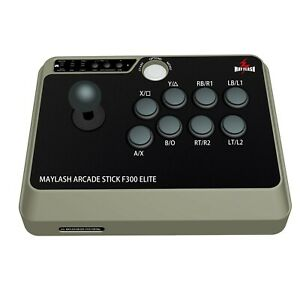 MAYFLASH Arcade Stick F300 Elite with Sanwa Buttons and Sanwa Joysticks f... New