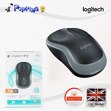 New Logitech Wireless Mouse M185 Grey For PC MAC 1 Year Battery Life