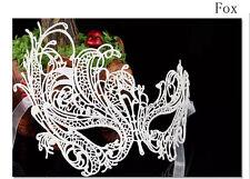 Halloween Christmas Dance Mask Is Soft WHITE FABRIC MASK