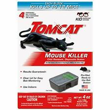 Tomcat Mouse Mice Killer 16 Blocks Bait Poison Rodent Station Home Trap Control