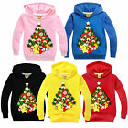 Hot Xmas Tree Toddler Kids Girl Boy Hoodie Jumper Pullover Sweatshirt Tops Shirt