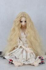 "7-8"" Long Blonde 1/4 BJD MSD SD BJD Doll Super Dollfie Wig"