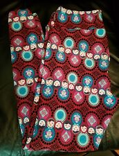 LuLaRoe Nesting Dolls Leggings Maroon Matryoshka TC Unicorn