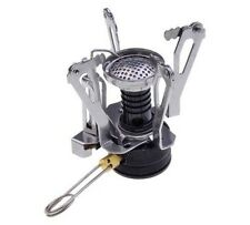 """Mini 3"""" Picnic BBQ Barbeque Camping Foldable Canister Outdoor Stove Gas Burner"""