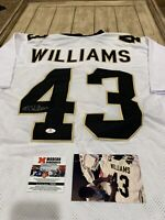 Marcus Williams Autographed/Signed Jersey COA New Orleans Saints