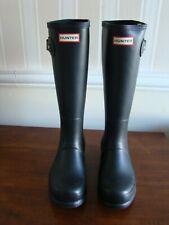 Hunter Men Original Tall Shoes US 8 M Black Rain Boots New UK 7 EU 40/41