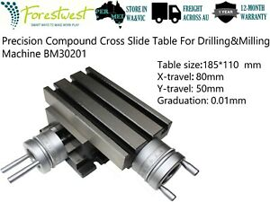 185*110mm Precision Cross Slide Table Compound Table Drilling Milling Worktable