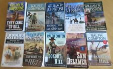 TEN EXCITING PAPERBACK WESTERN NOVELS BY THE BEST AUTHORS JOHNSTONE, COMPTON ETC